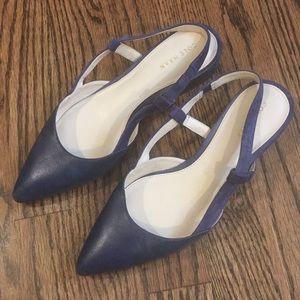 Cole Haan navy pointy toe low heels